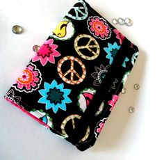 Peace Flowers Birds  Purse Wallet / Business Card by bloomandbling,
