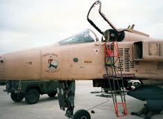 RAF Coltishall. March, 1991. RAF Sepecat Jaguar GR1.