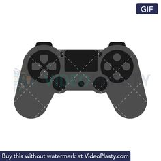 GIF icon animation of a PlayStation gray wireless controller