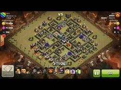 Clash of Clans TH9 vs TH9 Mixed Troop Clan War 3 Star Attack ⋆ Clash of Clans 3 Stars Clan Wars
