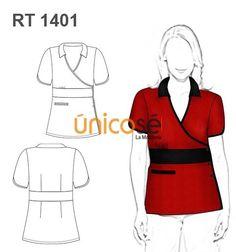 CHAQUETA MUJER TRABAJO Medical Uniforms, Work Uniforms, Restaurant Uniforms, Scrubs Uniform, Asian Restaurants, Filipina, Chef Clothing, Sewing Patterns, Womens Fashion