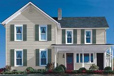 Like - able to picture various colors of siding with shudders - Siding Colors Tool | Sears Vinyl Siding Colors Options