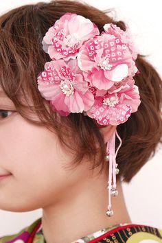 成人式や卒業式の振袖にも☆花の髪飾り2点セット