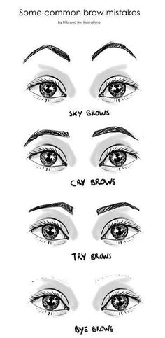 Some common mistakes in shaping female eyebrows