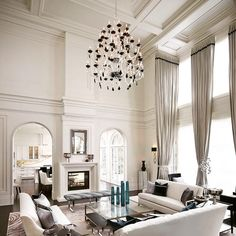 30 Ideas For Living Room Contemporary Classic Interior Design Classic Living Room, Living Room Modern, My Living Room, Interior Design Living Room, Luxury Home Decor, Luxury Homes, High Ceiling Living Room, Contemporary Classic, Modern Classic