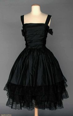Black Silk Taffeta Party Dress, C. 1955, Augusta Auctions, April 9, 2014 - NYC, Lot 104