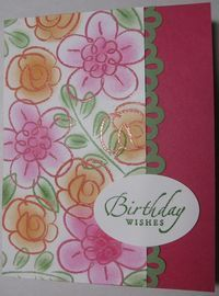Flower Fest Colored Embossing With Burnishing