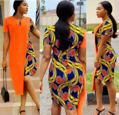Chic Ankara dress styles can be worn to different occasion and you won't feel out of place. In fact chic Ankara dress styles coordinated with complementing accessories have a way of enhancing your overall look. African Fashion Ankara, Latest African Fashion Dresses, African Dresses For Women, African Print Dresses, African Print Fashion, African Attire, African Women, Nigerian Fashion, African Prints