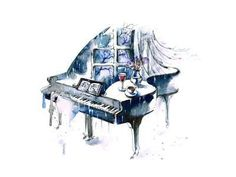Piano Art Print by okalinichenko at Art.com