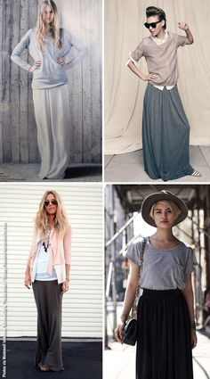 How To Wear: Basic Jersey Maxi Skirts
