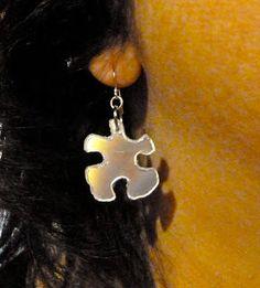 Make It métiers faciles: CD recyclé et / ou d'un ruban Puzzle Boucles d'oreilles