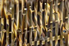 Robuchon au Dome: Wall Patterns, Textures Patterns, Wall Pannels, Wall Mirrors With Storage, Feature Wall Design, Mirror House, Interior Decorating Tips, Leather Wall, Diy Mirror