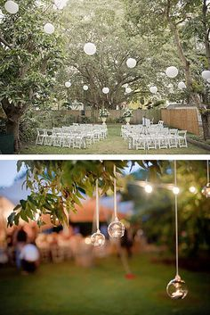 Whether you're using candles or lanterns, it's easy to get innovative with lighting: | 24 DIY Decorations That Will Make Any Wedding Look Like A Million Bucks