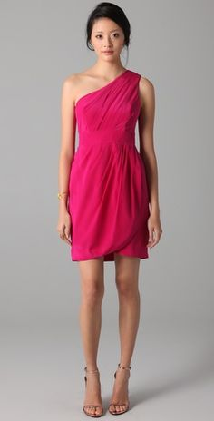 Finally I'm adding color to my selection - I have another one-shoulder dress  that looks a lot like this.