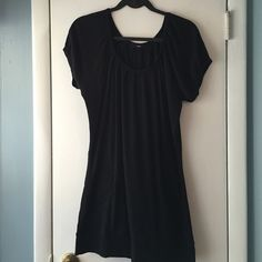 Express Long black sweater size L Express size L long sweater with two pockets at bottom.- rarely worn Express Sweaters Crew & Scoop Necks