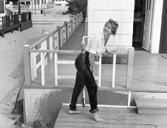 Actress Theda Nelson demonstrating shrink-to-fit in 1959. Levi's. Denim.  Vintage.