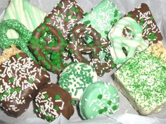 Yummy looking St Patrick's Day candy sampler box... I want some now! :) [Etsy]