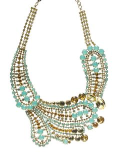 Oversized Paisley Crystal Necklace - Sparkling Statements! in Atlantis by Sorrelli - $692.50 (http://www.sorrelli.com/products/NBZ22ASAT)