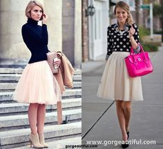 Tulle Skirt Style for Workwear