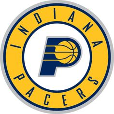 Indiana Pacers Alternate Logo (2006) - Logo in the middle of a yellow ring with team name