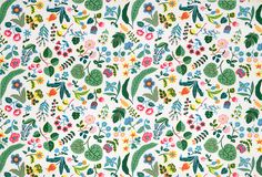 """Milles Fleur"" (the French translation for a Thousand Flowers) by Josef Frank on Linen"