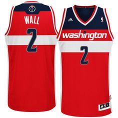 adidas John Wall Washington Wizards Revolution 30 Swingman Road Jersey Red John  Wall Adidas f7c23fdf5