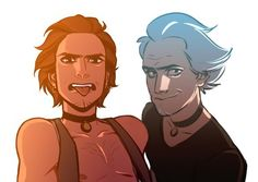 Rick Sanchez, before and after. Sweet Jesus, my loins..