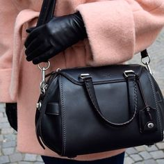 "Coach Ace Satchel Coach Ace satchel in glovetanned leather. Black. NWT. Dust bag included. Inside zip, cell phone and multifunction pockets.  Zip-top closure, fabric lining. Handles with 5 1/4"" drop.  Adjustable strap with 8 3/4"" drop for shoulder or crossbody wear. 14 1/4"" (L) x 9 1/4"" (H) x 7 3/4"". NO TRADES I only sell through Poshmark. Coach Bags"