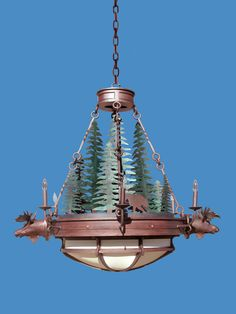 Moose Chandelier - Hand Crafted In America Since 1913 - LC921