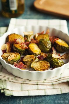 Coño Kitchen: Roasted Brussels Sprouts with Bacon and Garlic | Pepper.ph