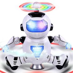 Dancing Robot Toy with Speaker and Lighting 360 Degree Rotation for Kids
