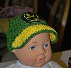 Crochet John Deere Inspired Baby Baseball by AuntieMCrochetCloset 568be8ecb76