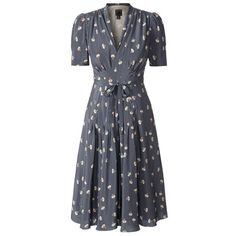 Orla Kiely dancing Girls Tea Dress - can't wear this colour or shape, but love the pleating at waist. 40s inspired.
