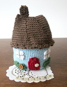 Ravelry: Country Cottage House pattern by Little Doolally; would be really cute as a tea cosy!