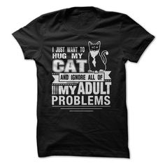 I JUST WANT TO HUG MY CAT T-Shirts, Hoodies. VIEW DETAIL ==► https://www.sunfrog.com/Pets/I-JUST-WANT-TO-HUG-MY-CAT.html?id=41382