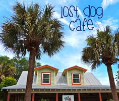 Lost Dog Cafe is a local favorite on Folly Beach, SC. Brunch is what they're known for, and outdoor seating is available!
