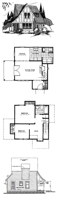 1000 images about tudor style house plans on pinterest for Tudor style floor plans
