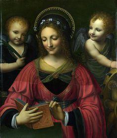 """After Bernardino Luini """"Saint Catherine"""""""