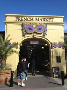 French Market in New Orleans, LA   Amazing farmer's market and historical foods market. We also met with some locals here.