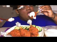 BUFFALO CHICKEN LOLLIPOPS 먹방 MUKBANG + RECIPE 치킨 롤리팝 먹방 레시피와 함께 - YouTube Fried Chicken, Tandoori Chicken, Chicken Lollipops, Food Videos, Recipe Videos, Food To Make, Chicken Recipes, Fries, Beef
