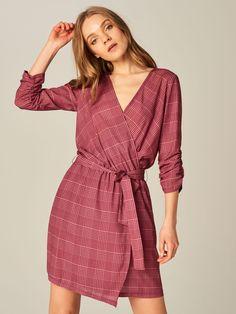 Překládané šaty - růžová - TT310-MLC - Mohito - 1
