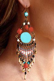 Boston ProperTribal beaded earrings