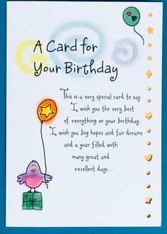 Happy Birthday Wishes For A Friend, Happy Mothers Day Wishes, Birthday Wishes For Friend, Happy Birthday Messages, Birthday Greetings For Mother, Birthday Wishes Greetings, Happy Birthday Birds, Unique Birthday Wishes, Birthday Verses For Cards