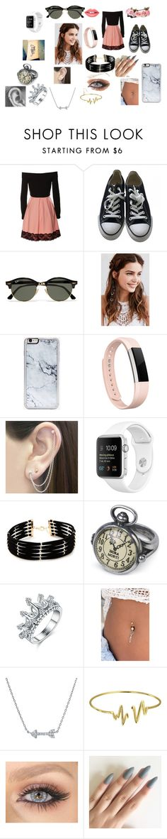 """""""Untitled #24"""" by kristen-cooley on Polyvore featuring Converse, Ray-Ban, REGALROSE, Zero Gravity, Fitbit, Otis Jaxon, Forever 21, Bling Jewelry and Fiebiger"""