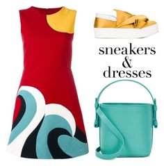 """""""Sneakers & dresses"""" by xaia on Polyvore featuring RED Valentino, N°21, Nico Giani and sneakerssanddresses"""