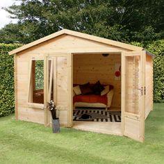 Waltons Standard Log Cabin Studio x on Walton Garden Buildings