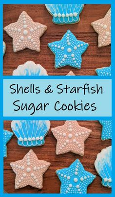Easy and fun to make, stars and sea shells are a hit at the next beach party! This tutorial is easy to follow, you can do it!  #butfirstcookies #starfish #seashells #shells #cookies #sugarcookies #beachparty