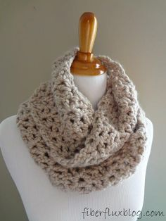 Stay warm and cozy this winter with this super bulky Classic Infinity Scarf. Crochet infinity scarves are becoming increasingly popular as a fashion icon and are always a welcome addition to any girl's winter wardrobe.