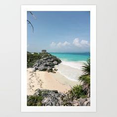 Buy Lighthouse of Tulum Art Print by e-keener. Worldwide shipping available at Society6.com. Just one of millions of high quality products available.