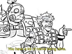 Depression During Period Overwatch Comic, Overwatch Memes, Overwatch Fan Art, Junkrat Fanart, Jamison Fawkes, Junkrat And Roadhog, Identity Art, Funny Games, Reaction Pictures